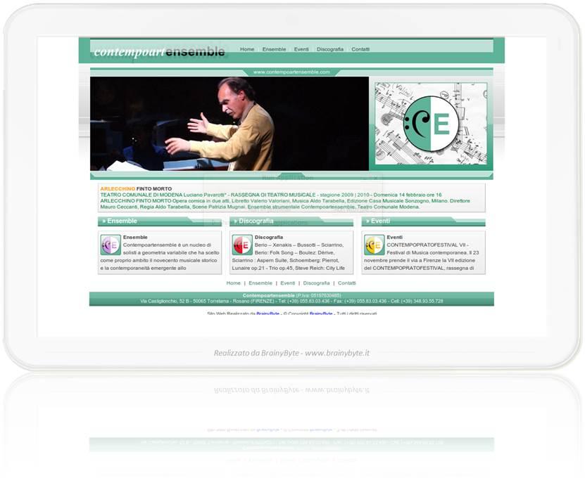Sito web per musicisti brainybyte di vaggelli manuele for Sito web di progettazione edilizia