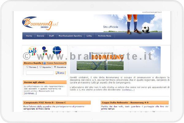 Sito Web Per Associazione Di Calcio A 5 A Firenze