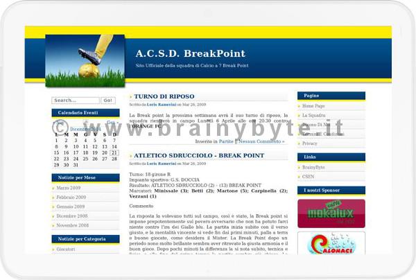 Sito Web Per Associazione Di Calcio A 7 A Firenze