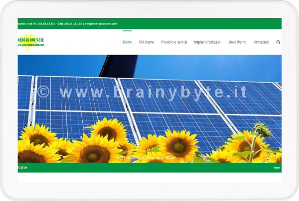 Sito Web Per Azienda Di Impianti Fotovoltaici A Firenze