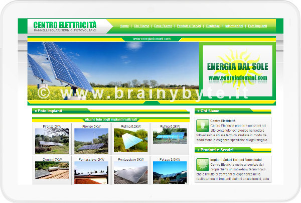 Sito Web Per Azienda Di Impianti Fotovoltaici A Pontassieve