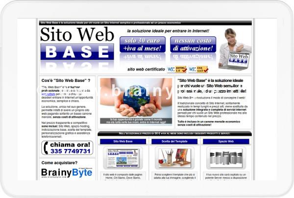 Sito Web Per Promozione Di Servizi Internet A Firenze