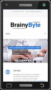 Esempio di sito web responsive per smartphone