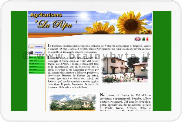 Sito Web Per Agriturismo Reggello A Firenze