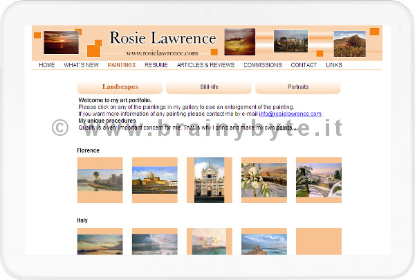 Sito Web Per Artista Pittrice A Firenze