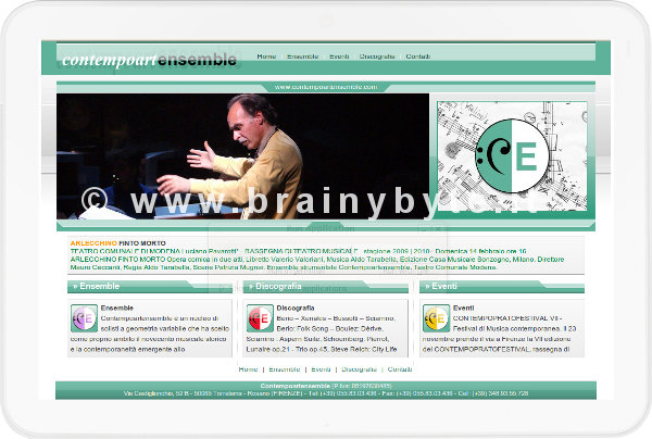 Sito web per artisti misicisti a Firenze