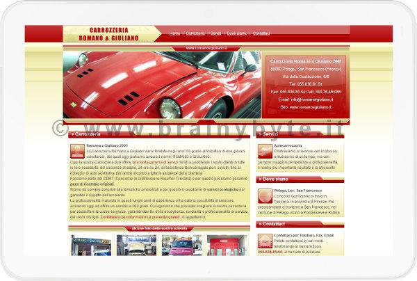 Sito Web Per Autocarrozzeria Pelago A Firenze