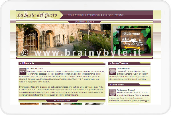 Sito web per ristorante a Firenze