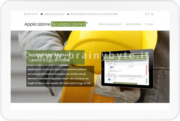 Sito web per software sicurezza sul lavoro a Prato