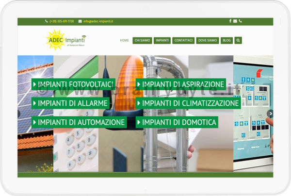 Sito Web Per Azienda Di Impianti Elettrici A Pontassieve