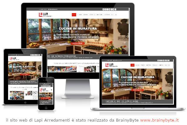 Il sito web di Lapi Arredamenti è stato realizzato da www.brainybyte.it