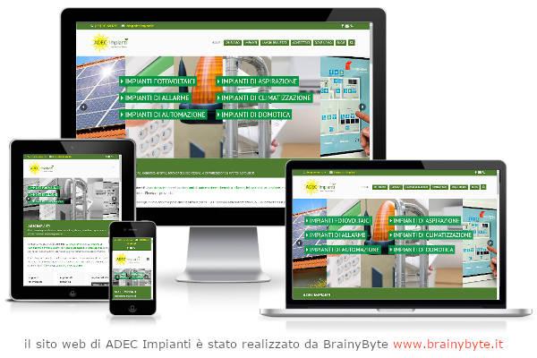 Il Sito Web Di ADEC Impianti è Stato Realizzato Da Www.brainybyte.it
