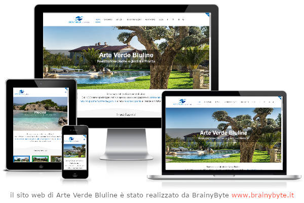 Il Sito Web Di Arte Verde Bluline è Stato Realizzato Da Www.brainybyte.it